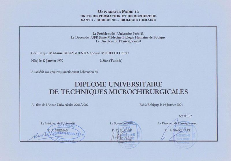 diplome universitaire paris 5 medecine